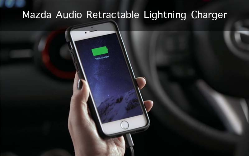 Mazda Audio Retractable Lightning Charger