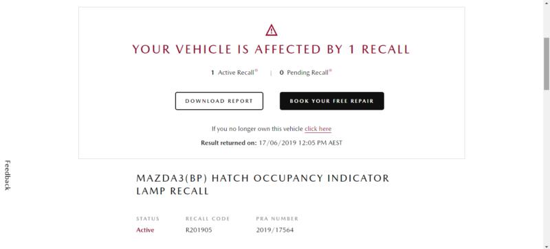 New 2019 Mazda 3 Recall 2