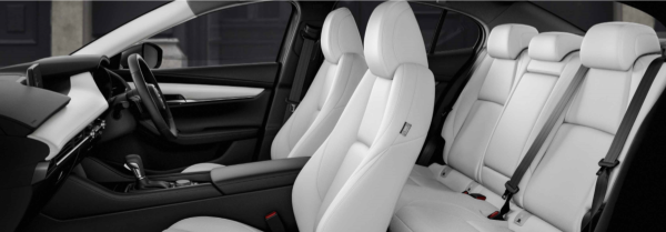Next-Gen Mazda 3 2019 White Interior